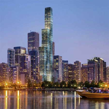 Chicago Skyline Stock